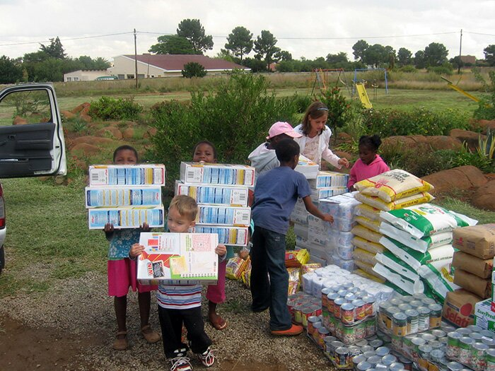 - Much needed food and groceries to Simunye Care Centre