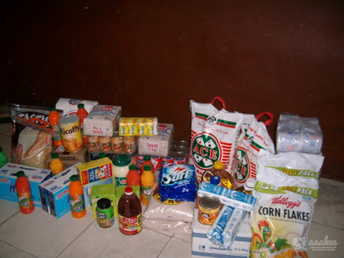 - Food & Groceries to the Hlalele Family