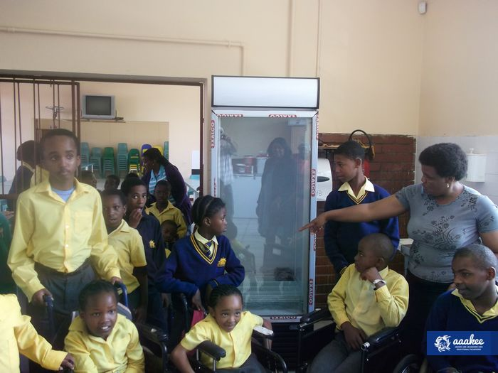 - Ithembelihle Lsen School receives a brand new fridge