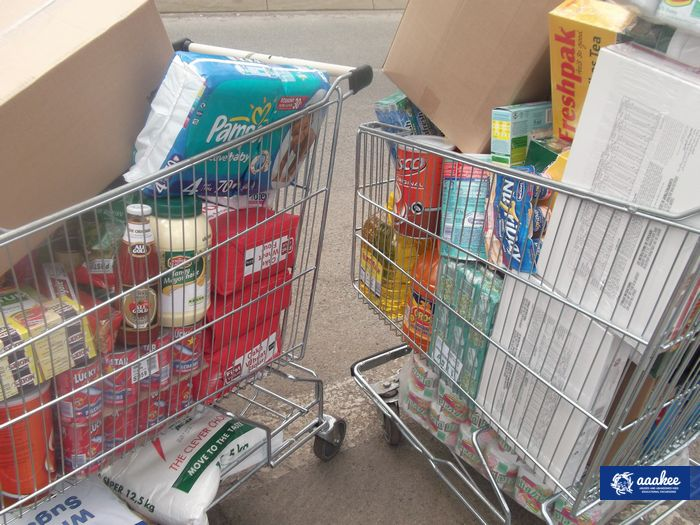 - Food and grocery hand-over to Jeppestown SAPS