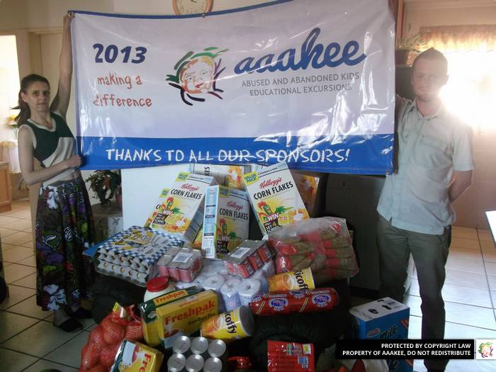 - Food donation to Birch Acres family