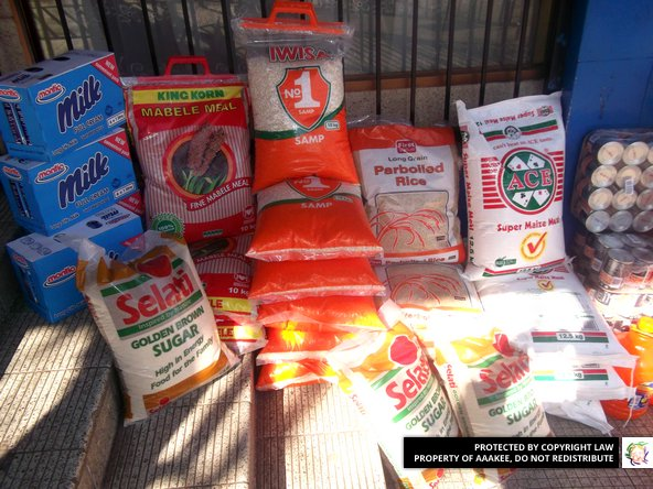 - Food donation to Meals on Wheels, Johannesburg