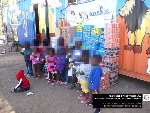 - Food parcels handed over to Reamogetswe Resource Centre