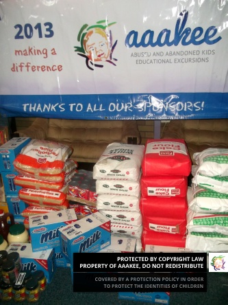 - Food consignment to the NG Welfare Catherine Robson Children's Home