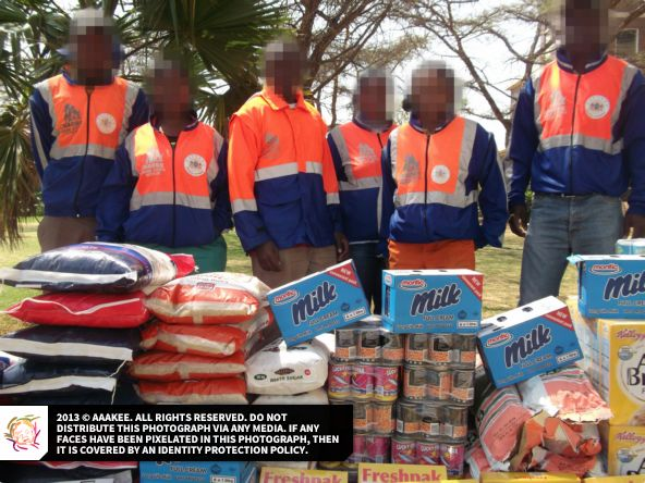 - Food and grocery consignment to the Jeppestown SAPS