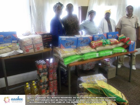 - Basic food and grocery necessities to the God is Love Pentecostal Church