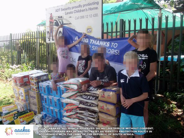 - Food and grocery consignment to Lerato Child and Youth Care Centre
