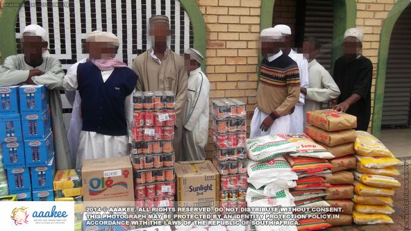 - Food consignment to Jumma Musjid & Educational Institute