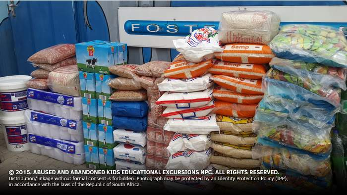 - Food and Grocery Consignment to Reamogetswe Resource Centre in Muldersdrift