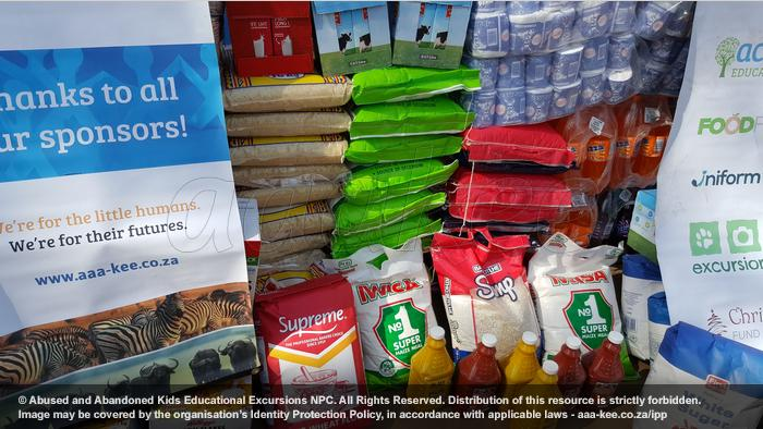 - Food and groceries donated to Reamogetswe Resource Centre in Muldersdrift