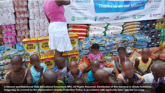 - Food and groceries to Polokong Children's Village