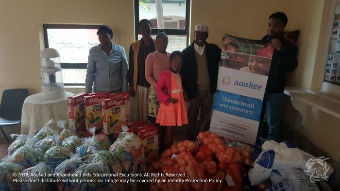 - Food hampers donated to the God is Love Pentecostal Church